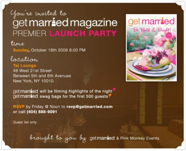 Get Married Magazine Launch Party